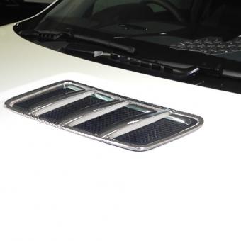 Γρίλιες χρωμίου με πλαίσιο για αεραγωγών καπό για Mercedes Benz GL X166, GLS X166, GLE W166, ML W166