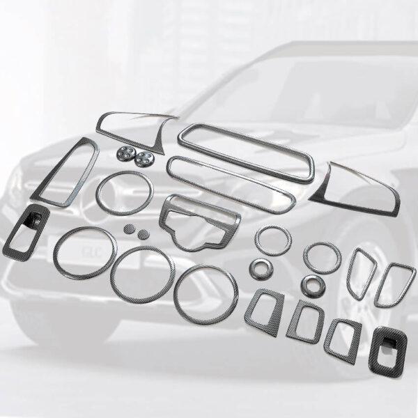 Διακοσμητικά εσωτερικά Σετ Carbon Look για Mercedes Benz GLC X253 SUV.