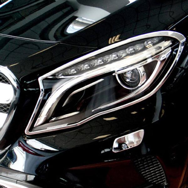 Χρώμια προβολέων για Mercedes Benz GLA X156 από 12/2013