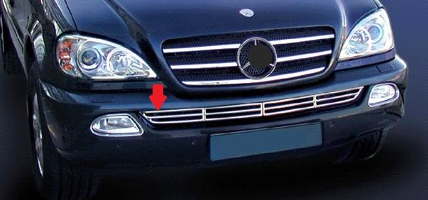 Μάσκα χρωμίου κάτω προφυλακτήρα για Mercedes Benz ML Class W163