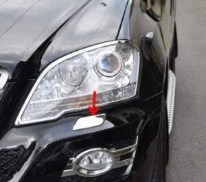 Κάλυμμα χρωμίου για μπεκ πλύσης προβολέων για Mercedes Benz ML W164 από 2008