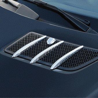 Γρίλιες χρωμίου για αεραγωγών καπό για Mercedes Benz GL X164 και ML-Class W164 από 08/08 έως 11/11
