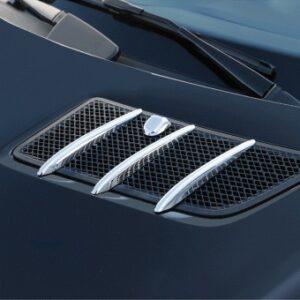 Γρίλιες χρωμίου για αεραγωγών καπό για Mercedes Benz GL X164 και ML-Class W164 μέχρι 07/2008