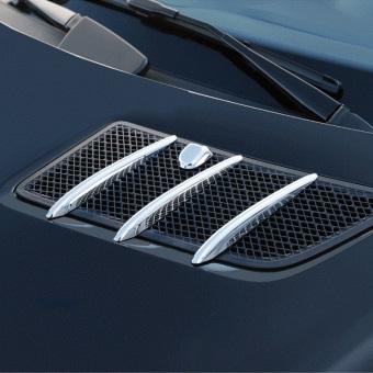 Γρίλιες χρωμίου για αεραγωγών καπό για Mercedes Benz GL X164 και ML Class W164 μέχρι 07/2008