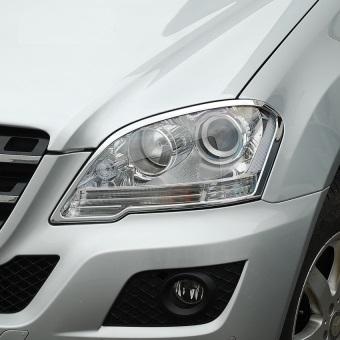 Χρώμια προβολέων ματ για Mercedes Benz ΜL Class W164 από 08/2008 μέχρι 2012