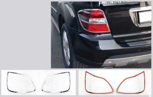 Χρώμια πίσω φαναριών για Mercedes Benz ML Class W164 από 2005 έως 2008
