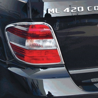 Χρώμια πίσω φαναριών για Mercedes Benz ML Class W164 από 2008 έως 2011