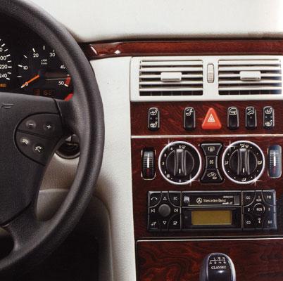 Στεφάνια χρωμίου ταμπλό για Mercedes Benz E Class W210 & W124, C Class W202, CLK W208, SLK R170