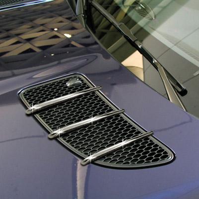 Γρίλιες χρωμίου για αεραγωγών καπό για Mercedes Benz SLK R171