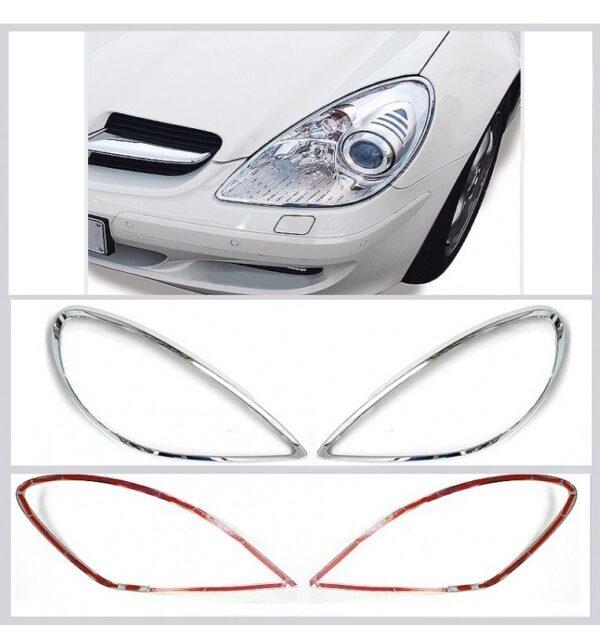 Χρώμια προβολέων ματ για Mercedes Benz SLK R171 από 03/2004 έως 03/2011