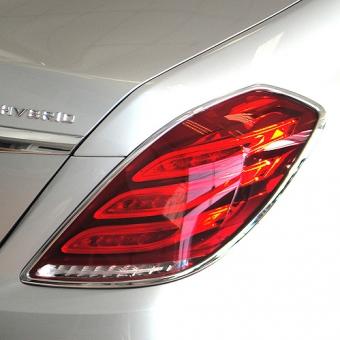 Χρώμια πίσω φαναριών για Mercedes Benz S-Class W222 από 06/2013