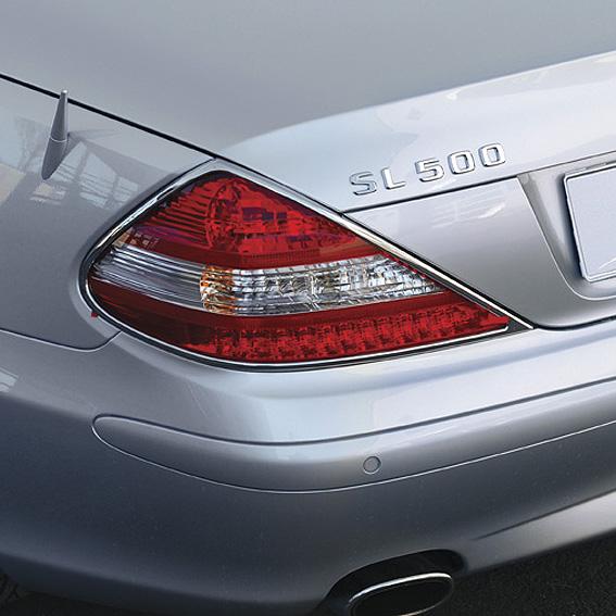 Χρώμια πίσω φαναριών για Mercedes Benz SL R230 από 2008 έως 2013