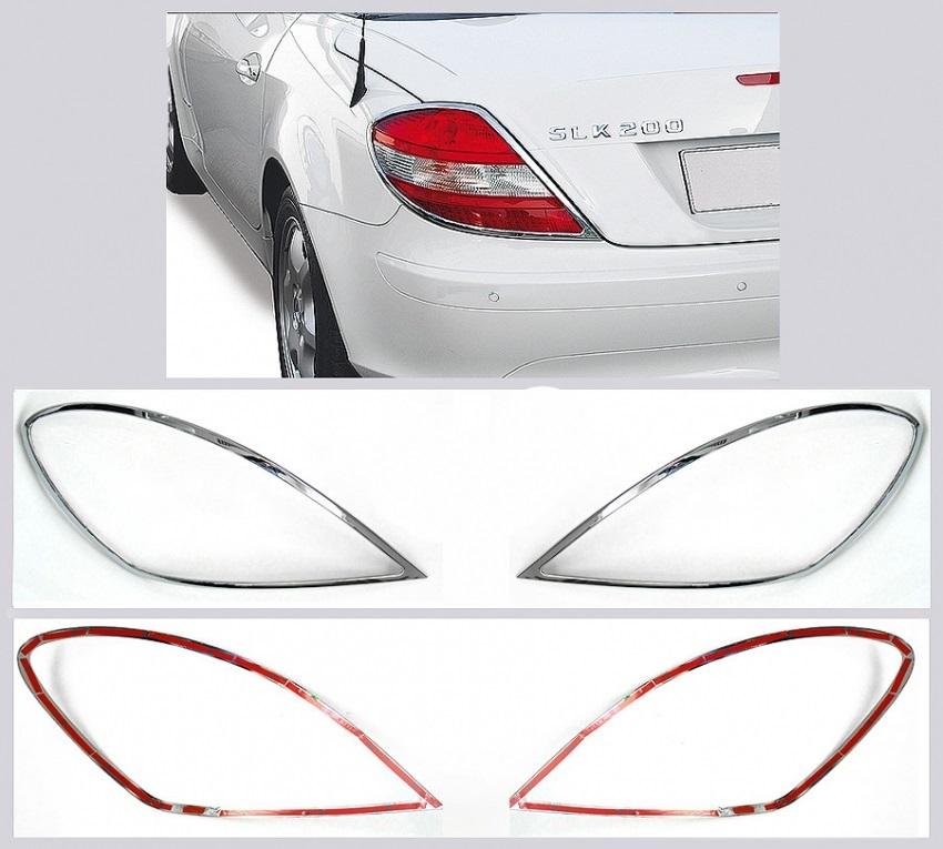 Χρώμια πίσω φαναριών για Mercedes Benz SLK R171 από 03/2004 έως 03/2011