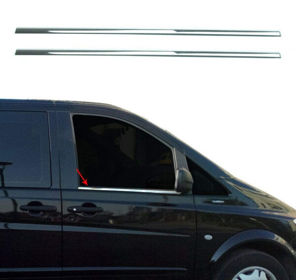 Γυαλισμένες ανοξείδωτες βέργες για τα τσιμουχάκια παραθύρων για Mercedes Benz Vito W639 2003-2014