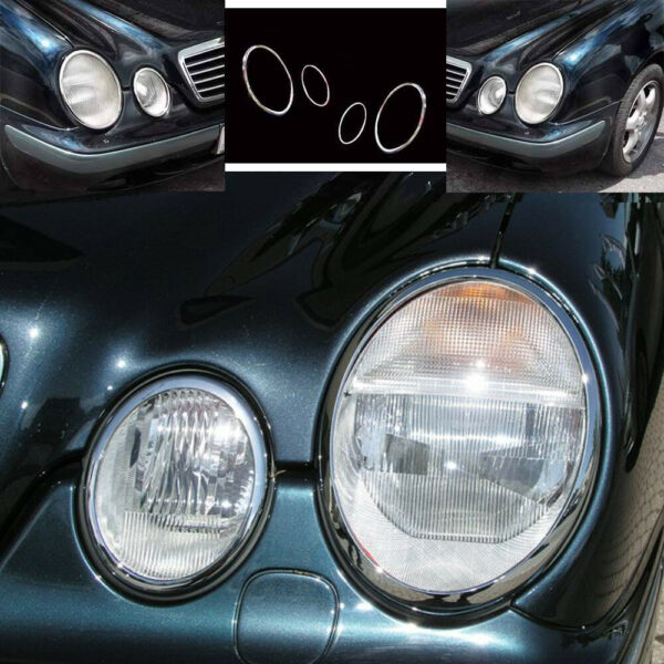 Chrome headlight frames for Mercedes CLK W208 Coupe - Cabrio