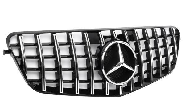 Grille sport Mercedes Benz W212 chrome panamericana look