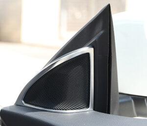 Πλαίσιο χρωμίου ηχείων μπροστινής πόρτας για Mercedes Benz CLA W117